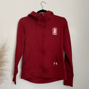 Under armour Stanford red hoodie sports jacket